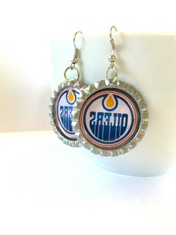 hockey fans edmonton oilers hockey earrings