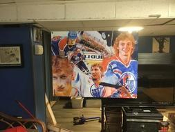 HUGE! 42x33 Wayne Gretzky Vinyl Banner POSTER Mario Lemieux