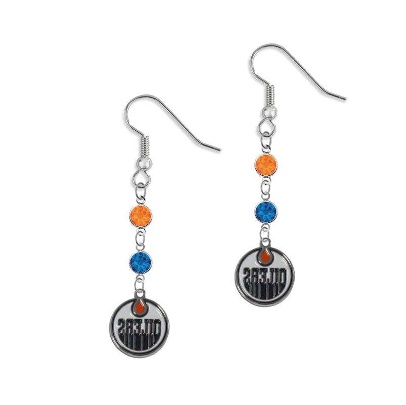 edmonton oilers 925 sterling silver double crystal