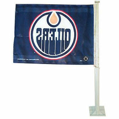 edmonton oilers car auto window flag