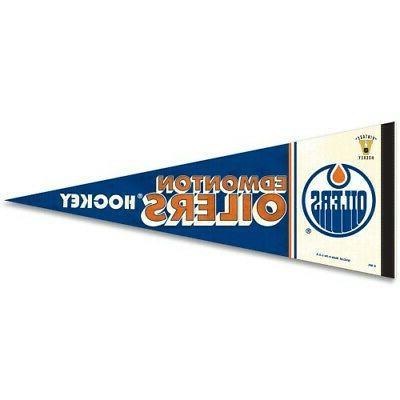 edmonton oilers classic throwback premium quality pennant