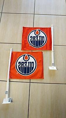 edmonton oilers nhl hockey orange car flag