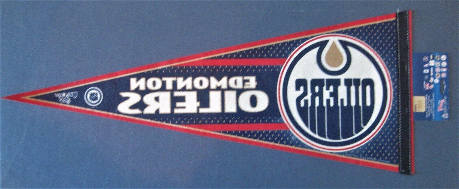 edmonton oilers pennant 12 x 30 new