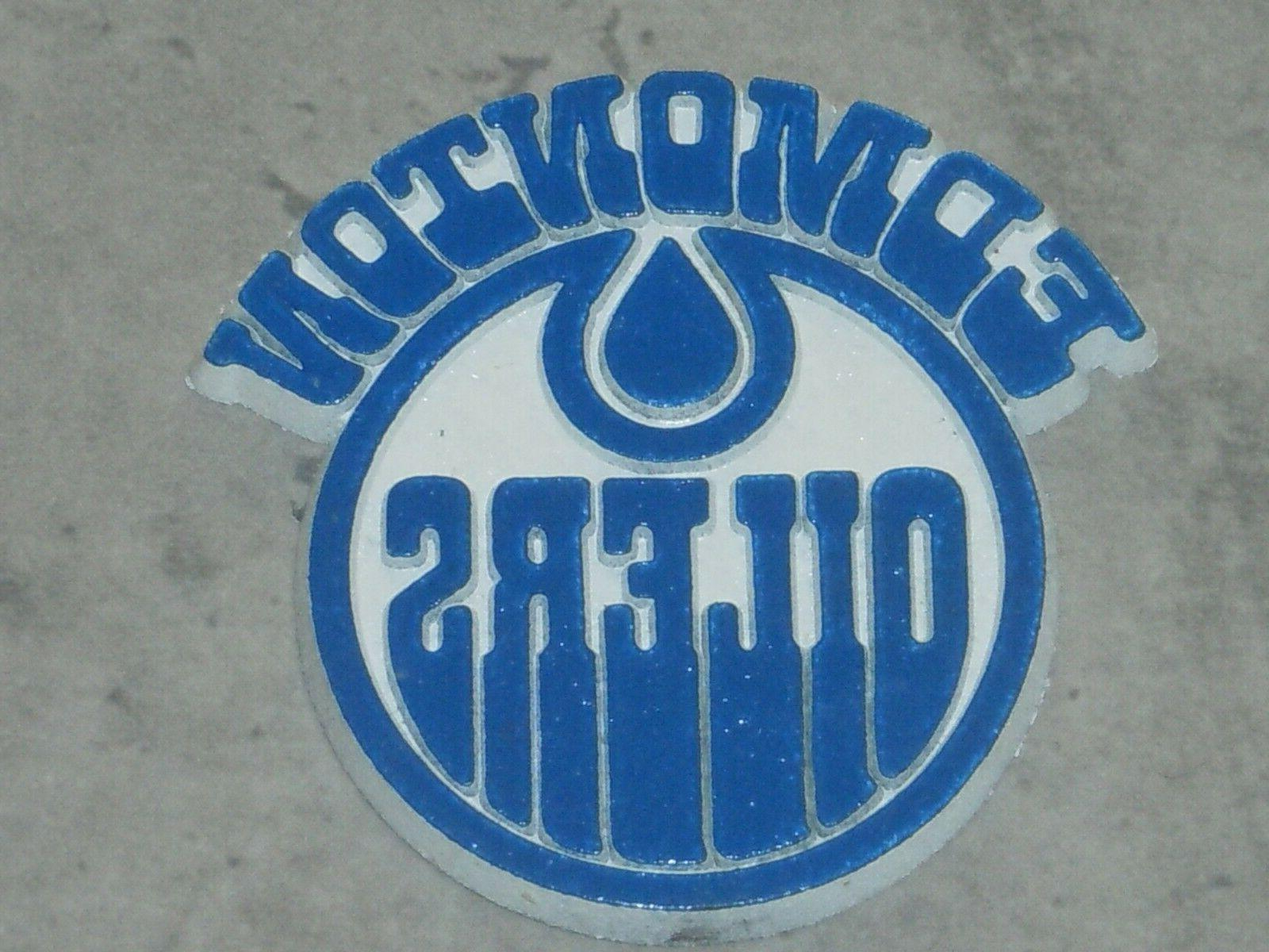 edmonton oilers vintage old blue nhl rubber