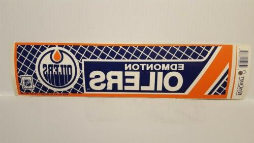 edmonton oilers vintage team bumper sticker 1990