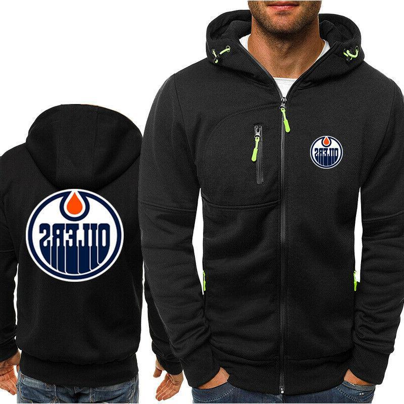 Edmonton Oilers Hoodie Fans Jacket Sporty Coat