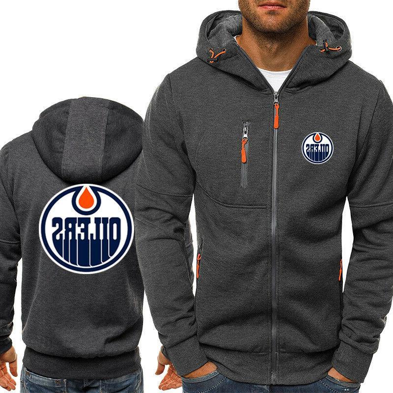 Edmonton Warm Fans Hooded Sweatshirt Full-zip Jacket Coat