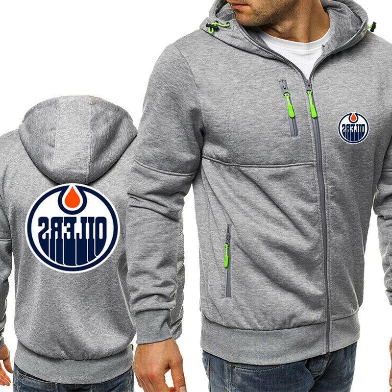 Edmonton Fans Sweatshirt Jacket Sporty Coat