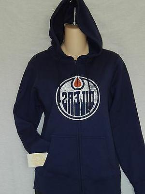 new edmonton oilers zip up hoodie jacket