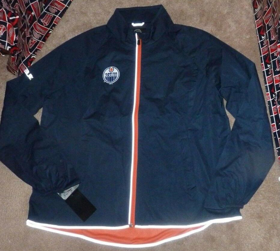 new nhl edmonton oilers windbreaker jacket coat