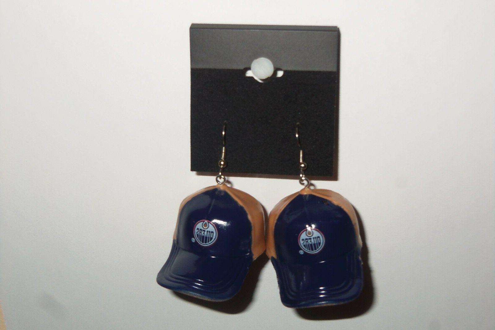 nhl edmonton oilers dangling earrings mini 2