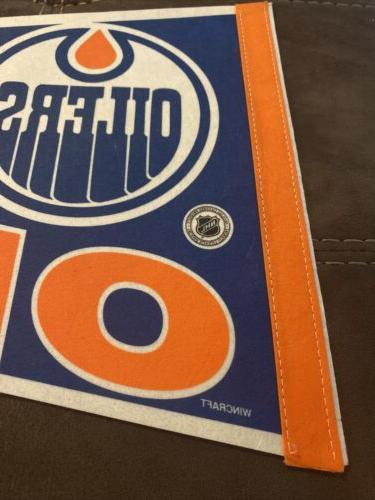 Vintage Edmonton WINCRAFT Pennant Good NHL!