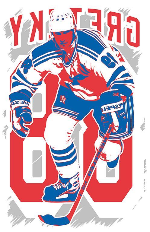WAYNE GRETZKY FAN 4 Edmonton Oilers FREE S&H!