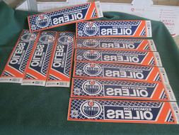 Lot Of 10 Vintage Wincraft Edmonton Oilers Bumper Stickers