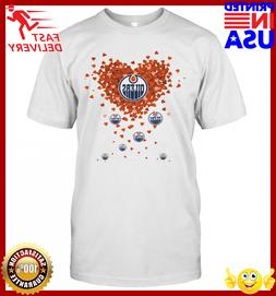 Love Edmonton Oilers Hearts T-Shirt_42648741