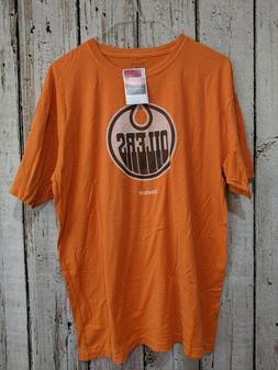 LZ Men's Large Reebok Edmonton Oilers NHL Short Sleeve T-Shi
