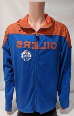 LZ Men's Size Large Reebok NHL Edmonton Oilers Full Zip Up H