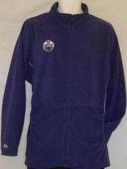 NEW Edmonton Oilers Hockey Zip up Jacket NHL Fleece Top Coat