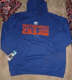NEW NHL Edmonton Oilers Hoodie Hooded Sweatshirt Men 2XL XXL