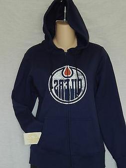 NEW Edmonton Oilers Zip Up Hoodie Jacket  Hooded Sweatshirt