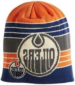 New Licensed NHL Edmonton Oilers Reebok DOUBLE LOGO Beanie H
