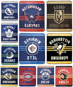 New NHL Luxury Velour High Pile Blanket - Twin Size 60 x 70