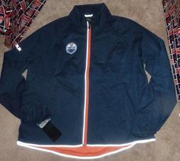 NEW NHL Edmonton Oilers Windbreaker Jacket Coat Women Ladies