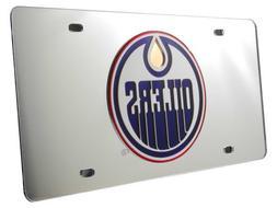 NHL Edmonton Oilers Laser Cut Auto Tag, Silver