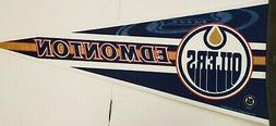 "NHL Edmonton Oilers 12"" x 30"" Pennant, NEW"