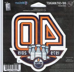 NHL Edmonton Oilers 40 Years in NHL Die Cut Window Car Truck