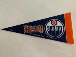 "NHL Edmonton Oilers  Mini Pennant Flag 4""x9"" NEW Hockey Deco"