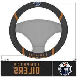 NHL Edmonton Oilers Steering Wheel Cover in Black