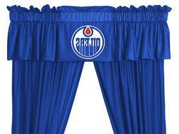 NHL Edmonton Oilers Valance, 88 x 14, Bright Blue