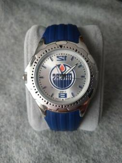💧 NHL GAME TIME EDMONTON OILERS WATCH BLUE SILICONE BAND