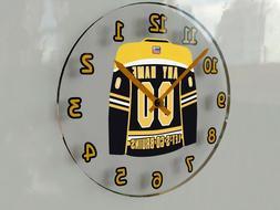 """NHL HOCKEY JERSEY THEMED WALL CLOCKS - 12"""" x 12"""" x 2"""" - THE"""