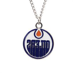 NHL Hockey Licensed Necklace - Edmonton Oilers Pendant LOGO