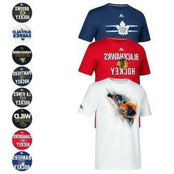 NHL Adidas Men's Team Logo Climalite Performance T-Shirt Col
