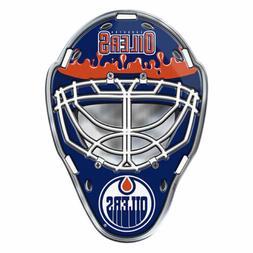 NHL Officially Licensed Edmonton Oilers Mask Premium Aluminu