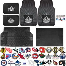 NHL Universal Heavy Duty Rubber Front Rear Auto Floor Mats &
