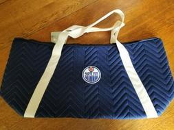 NWT Little Earth Edmonton Oilers Weekender Quilted Bag Duffe