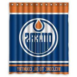 "Personalized Edmonton Oilers Hockey Waterproof 60"" x 72"" Sho"