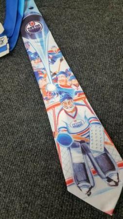 VINTAGE 1993 NEW TIE RALPH MARLIN Edmonton Oilers #V64