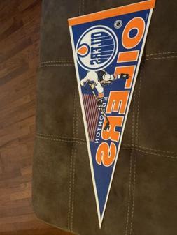 Vintage Edmonton Oilers WINCRAFT Pennant Flag!! Good Shape!
