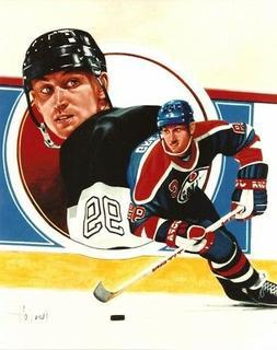 WAYNE GRETZKY 8x10 ART PHOTO Awesome NHL Artwork LA KINGS Ed