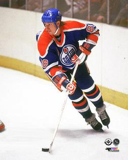 Wayne Gretzky ACTION 1985 Edmonton Oilers Official NHL Premi