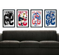 WAYNE GRETZKY art print/poster FAN PACK 4 PRINTS! Edmonton O