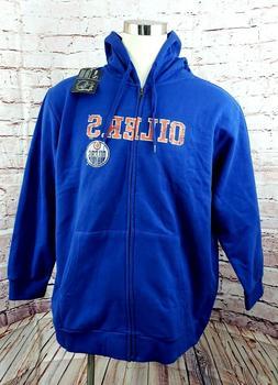 Women Edmonton Oilers Full Zip Hoodie Hooded Sweatshirt Jack
